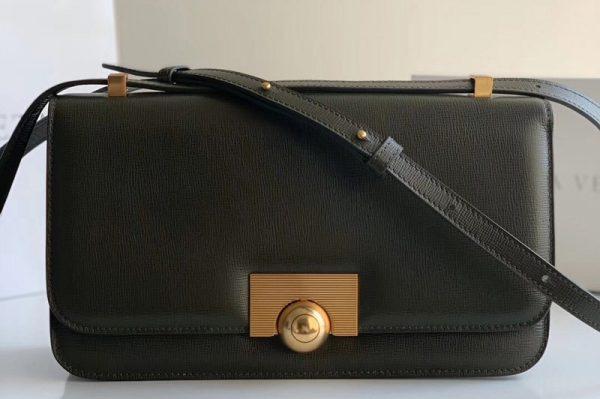 Replica Bottega Veneta 578009 BV classic Shoulder bag in Dark Green Calf Leather