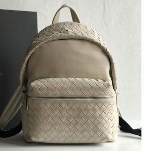 Replica Bottega Veneta 599634 BV Backpack In White woven calfskin