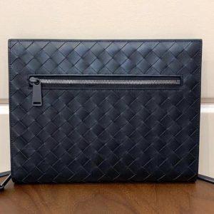 Replica Bottega Veneta 601056 Document Case in Black Calfskin