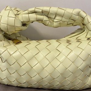 Replica Bottega Veneta 609409 Mini BV Jodie hobo bag in Yellow Lambskin Leather