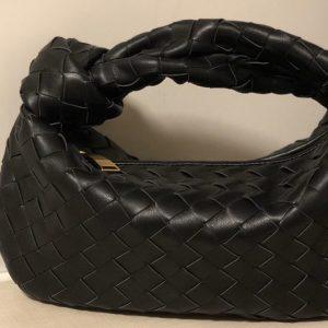Replica Bottega Veneta 609409 Mini BV Jodie hobo bag in Black Lambskin Leather