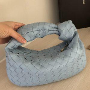 Replica Bottega Veneta 609409 Mini BV Jodie hobo bag in Blue Lambskin Leather