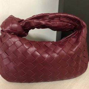 Replica Bottega Veneta 609409 Mini BV Jodie hobo bag in Burgundy Lambskin Leather