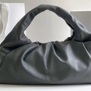 Replica Bottega Veneta 607984 The shoulder Pouch bag in Gray Calfskin Leather