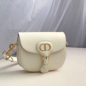 Replica Christian Dior M9317 Small Dior Bobby Bag in White Box Calfskin