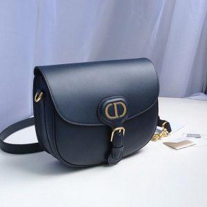 Replica Christian Dior M9319 Medium Dior Bobby Bag in Blue Box Calfskin
