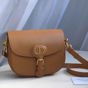 Replica Christian Dior M9319 Medium Dior Bobby Bag in Brown Box Calfskin
