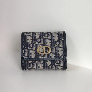 Replica Christian Dior S2057 30 Montaigne Lotus wallet in Multicolor Dior Oblique Jacquard