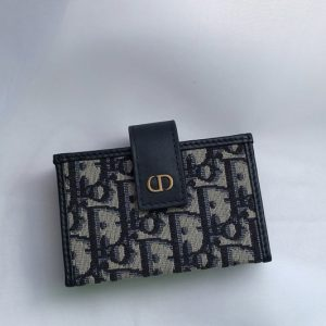 Replica Christian Dior S2058 30 Montaigne 5-gusset card holder in Multicolor Dior Oblique Jacquard