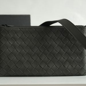 Replica Bottega Veneta 611240 BV Messenger bag In Gray classic woven nappa leather