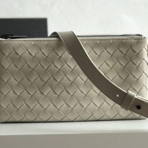 Replica Bottega Veneta 611240 BV Messenger bag In White classic woven nappa leather