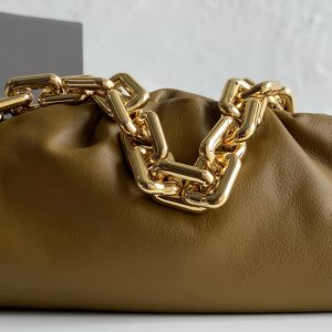 Replica Bottega Veneta 620230 BV The Chain Pouch Shoulder bag in Apricot Calfskin Leather