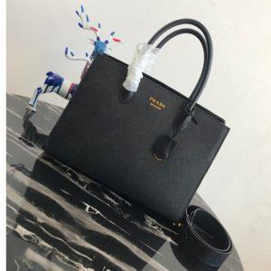 Replica Prada 1BA153 Large Saffiano Leather Handbag in Black Saffiano Leather