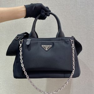 Replica Prada 1BG364 Nylon tote bag in Black Nylon
