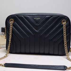 Replica Saint Laurent 617691 YSL JOAN CAMERA BAG IN Black Y-QUILTED SMOOTH LEATHER