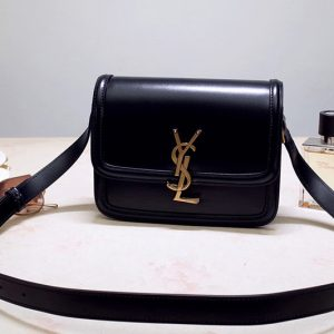 Replica Saint Laurent 634305 YSL SOLFERINO MEDIUM SATCHEL Bag INBlack BOX SAINT LAURENT LEATHER