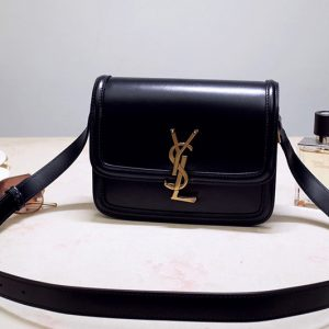 Replica YSL 634306 SOLFERINO SMALL SATCHEL IN Black BOX SAINT LAURENT LEATHER