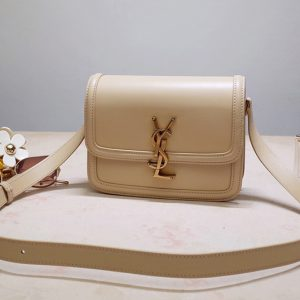 Replica YSL 634306 SOLFERINO SMALL SATCHEL IN NATURAL IVORY BOX SAINT LAURENT LEATHER