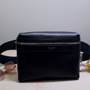 Replica Saint Laurent 634717 YSL CITY CAMERA BAG IN Black MATTE LEATHER