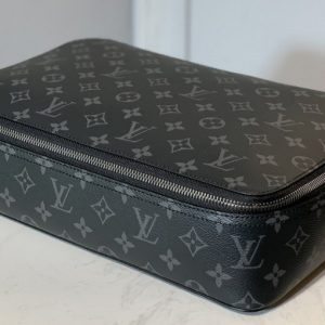 Replica Louis Vuitton M43690 LV Packing Cube GM in Monogram Eclipse Canvas