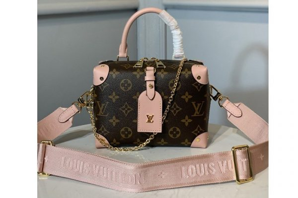 Replica Louis Vuitton M44683 LV petitie malle souple Bag in Monogram canvas With Pink