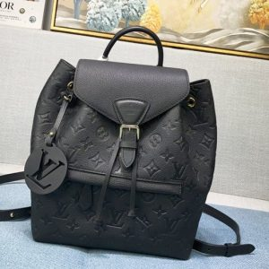 Replica Louis Vuitton M45205 LV Montsouris Backpack IN Black Monogram Empreinte embossed leather