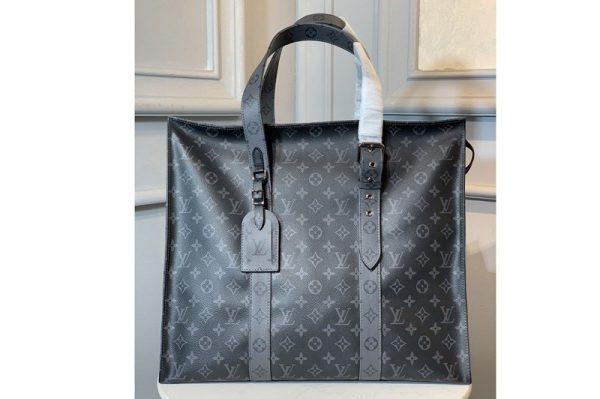 Replica Louis Vuitton M43680 LV New Cabas Zippe GM Bag in Monogram Eclipse canvas
