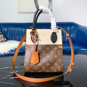 Replica Louis Vuitton M45388 LV Fold Tote PM tote bag in Monogram Canvas and calfskin leather