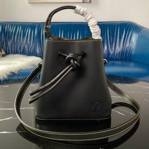 Replica Louis Vuitton M45394 LV NéoNoé bucket bag In Calf Leather and Monogram canvas