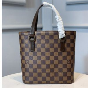 Replica Louis Vuitton N51172 LV tote Bag in Damier Ebene Canvas
