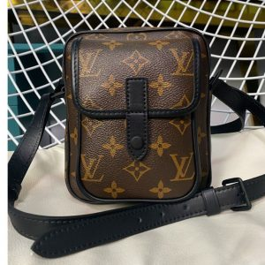 Replica Louis Vuitton M69404 LV Christopher wearable wallet in Monogram Macassar Canvas