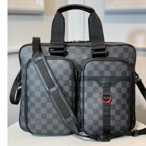 Replica Louis Vuitton N40278 LV Utility Business Bag in Damier Graphite coated canvas