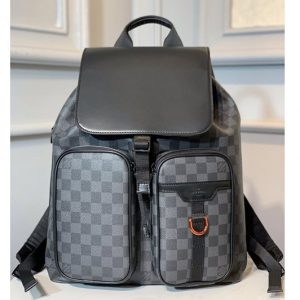 Replica Louis Vuitton N40279 LV Backpack in Damier Graphite Canvas
