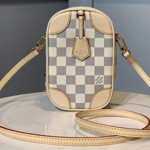 Replica Louis Vuitton N60360 LV Neokapi vertical pouch in Damier Azur Canvas