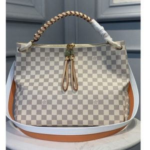 Replica Louis Vuitton N40343 LV Beaubourg Hobo MM bag in Damier Azur Canvas