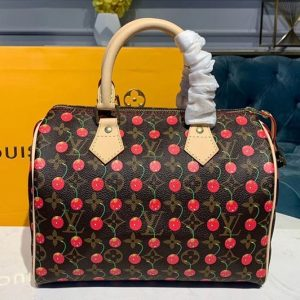 Replica Louis Vuitton M41109 LV Speedy 25 With Cherry Bags Monogram Canvas