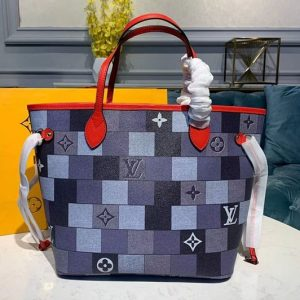 Replica Louis Vuitton M41177 LV Neverfull MM tote Bags Damier Ebene Canvas