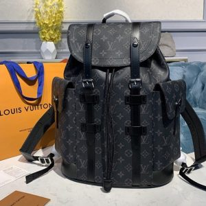 Replica Louis Vuitton M43735 LV Christopher PM Backpack in Monogram Eclipse Canvas