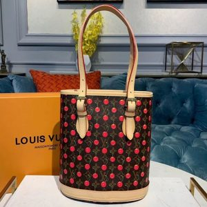 Replica Louis Vuitton M42238 LV Petit with Cherry Bucket Bags Monogram Canvas