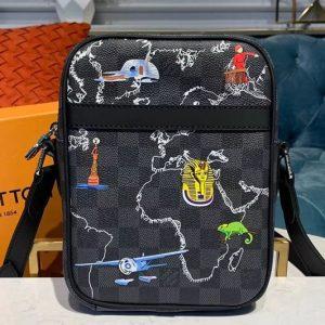 Replica Louis Vuitton M43677 LV Danube PM Bags Damier Graphite canvas