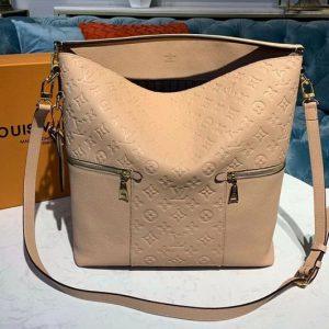 Replica Louis Vuitton M44247 LV Melie handbags Beige Monogram Empreinte leather