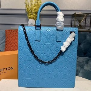 Replica Louis Vuitton M44476 LV Runway Bags Blue Taurillon leather