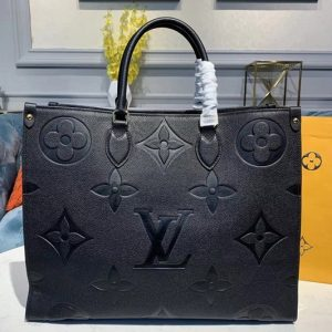 Replica Louis Vuitton M44570 LV Onthego tote bags Black Taurillon leather