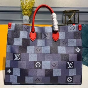 Replica Louis Vuitton M44576 LV Onthego tote bags Damier Graphite Canvas