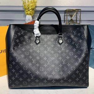 Replica Louis Vuitton M44733 LV Grand Sac New tote bags Monogram Eclipse canvas