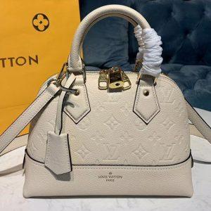 Replica Louis Vuitton M44829 LV Alma BB handbags Beige Taurillon leather
