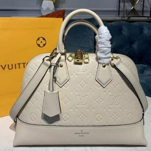 Replica Louis Vuitton M44832 LV Alma PM handbags Beige Taurillon leather