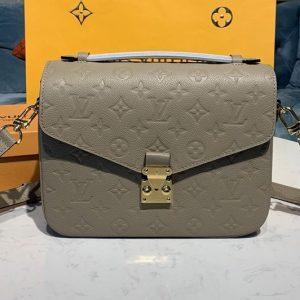 Replica Louis Vuitton M44881 LV Pochette Métis handbags Gray Monogram Empreinte Leather