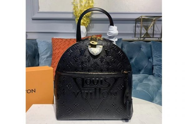 Replica Louis Vuitton M44945 LV Moon Backpack Black Embossed Monogram Midnight canvas