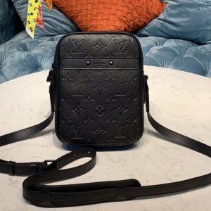 Replica Louis Vuitton M44972 LV Danube Slim mens bag in Monogram Shadow calf leather